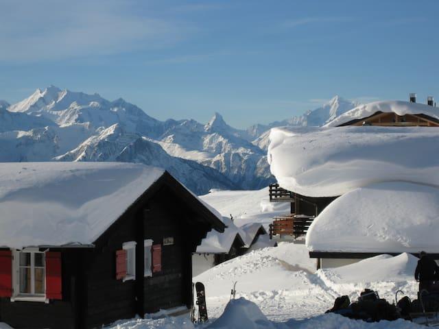 Matterhornblick - 2220 m hoch - Fiesch - Dağ Evi