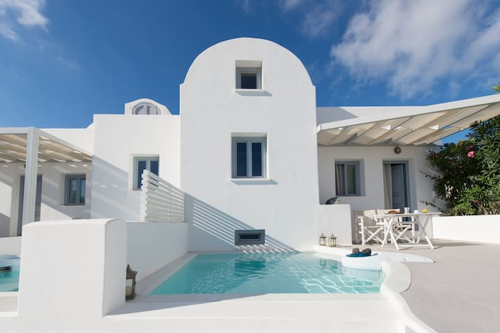 Apartment  for 2  - pool & sea view - Thira - Dom
