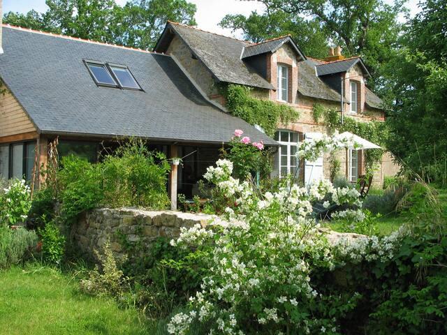 Cottage+piscine intérieure chauffée - Donges - Huis
