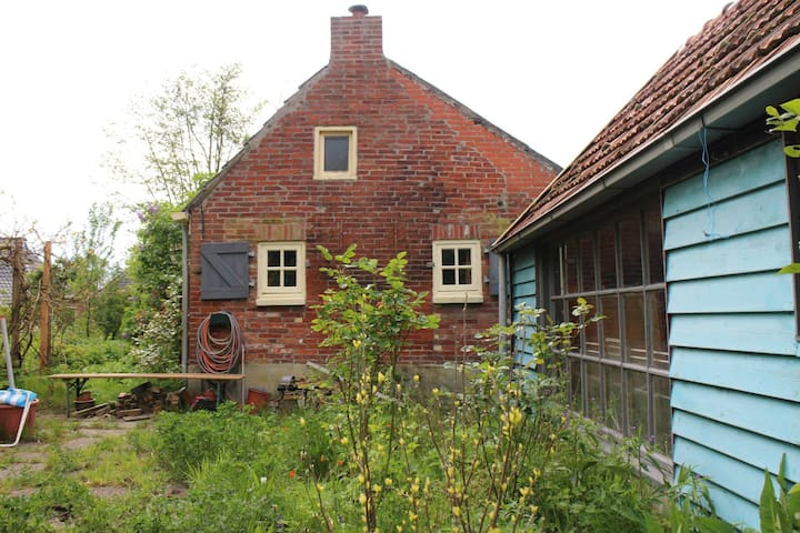 Knus huisje met grote tuin - Zandeweer - Hus