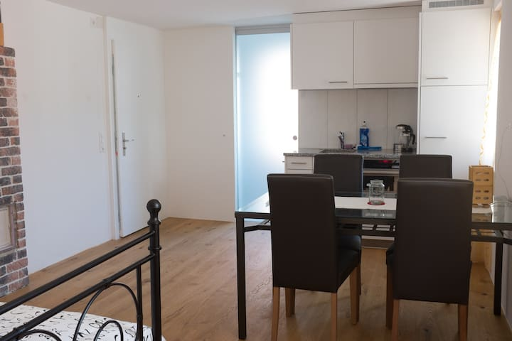 Charming ground floor studio flat - Siebnen - Daire