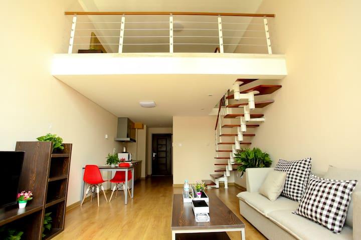 拜登盛邸服务公寓(济南奥体中心)市景loft大床套房 - Jinan - Appartement