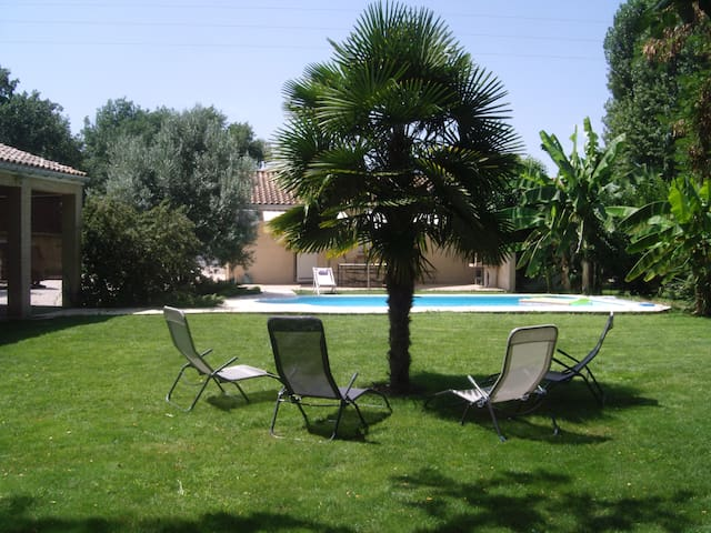 casa con piscina - Saint-Jean-du-Falga - Huis