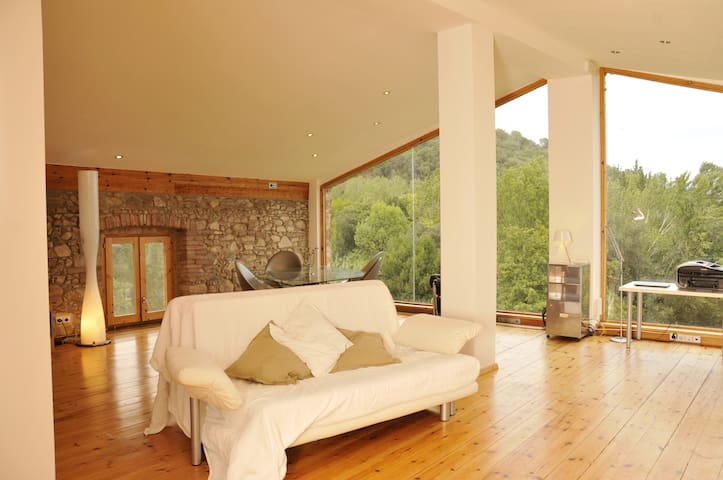 Loft with pool in Natural Park - Arbúcies - Loft