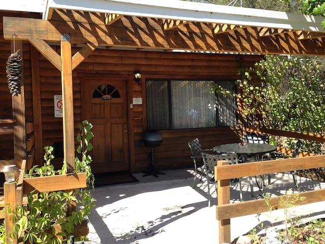Studio with 2 queen beds, private bath & BBQ/WiFi - Ahwahnee - Kulübe