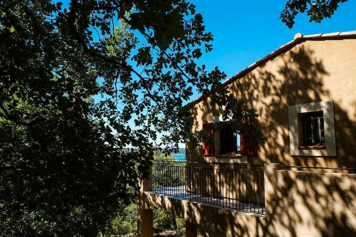 Cottage 4 persons superb lake view - Bauduen - Pis