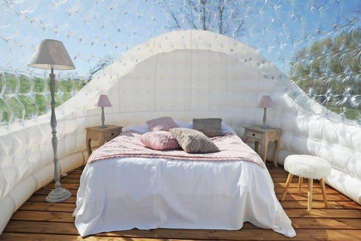 Chambre bulle insolite chauffée - Vignieu - Pousada