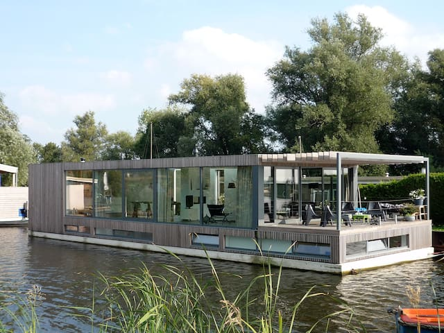 Modern houseboat near Amsterdam - Vreeland - Casa