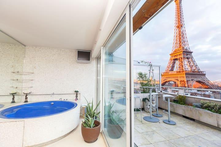 Penthouse w the best view of Paris - Paris - Lägenhet