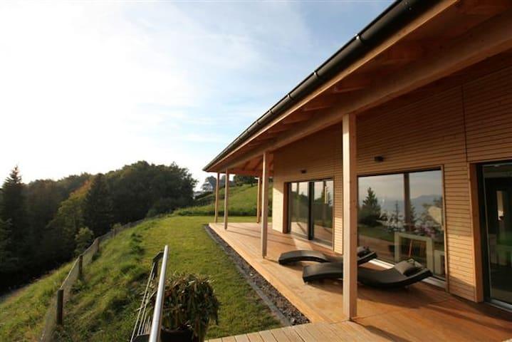 Design wood house with amazing view - Chardonne - Ház