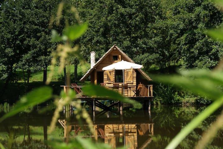 Charming cabin on water - Burgundy - Saint-Didier-sur-Arroux - Kulübe