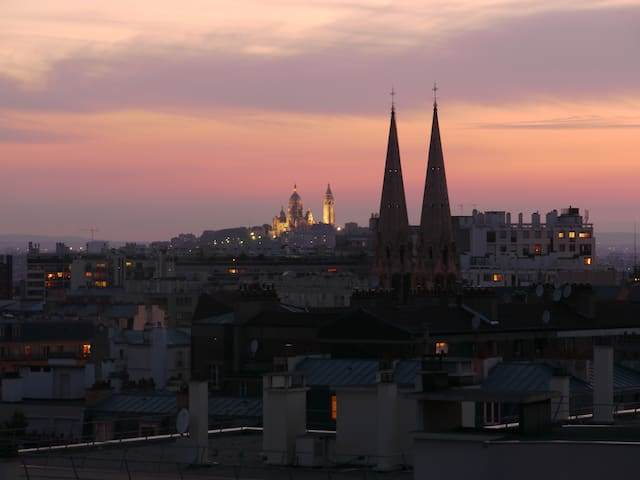 Studio with Panoramic view of Paris - París