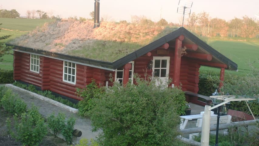 Live in a Grass-Roof Log Cabin! - Nykobing Mors - Cabaña
