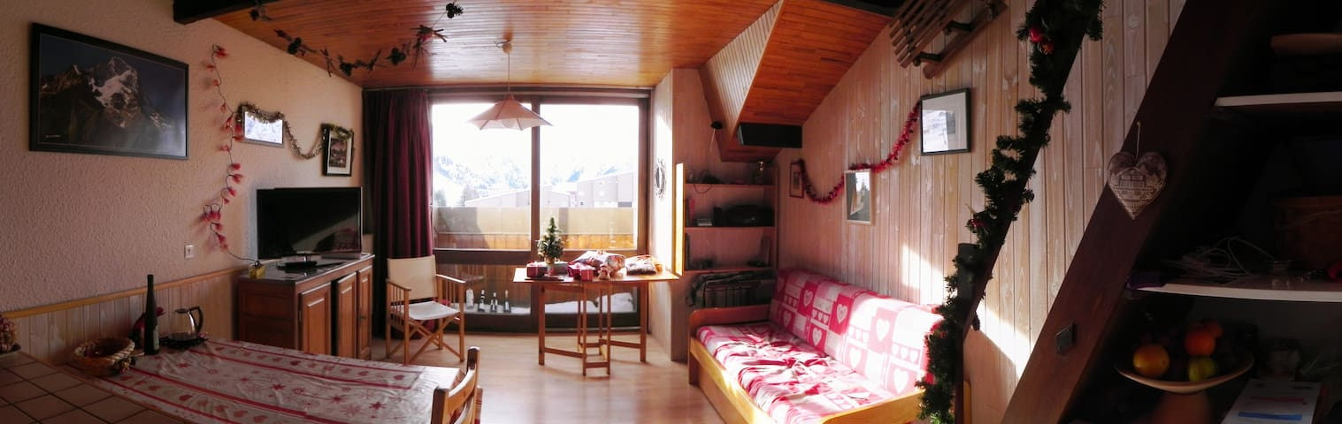 Ski to door nice studio apartment - Mont-de-Lans - Appartement