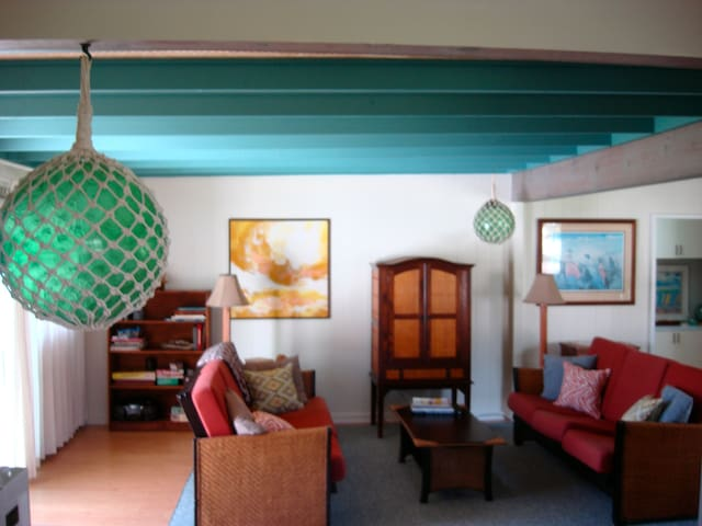 GlassBall Hideaway walk to #1 Beach - Waimanalo - Casa