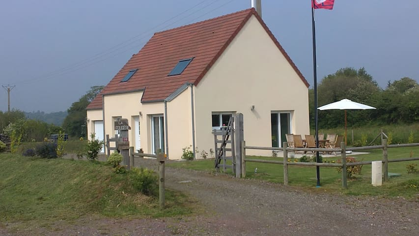 """FOUGERE"" between country & beach - La Haye-d'Ectot - Huis"