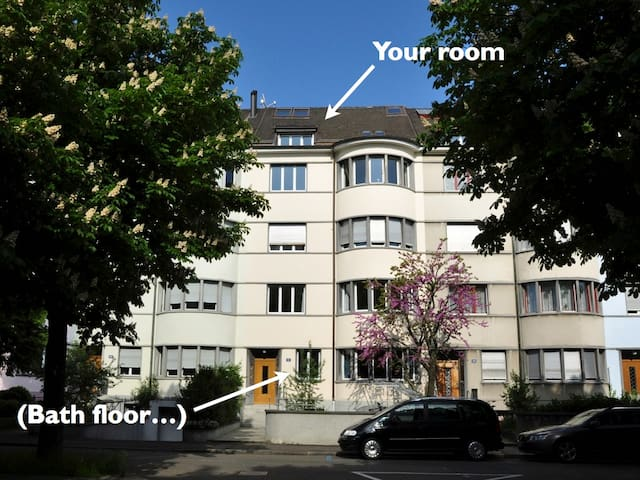 Two rooms under the rooftop - Basel - Talo