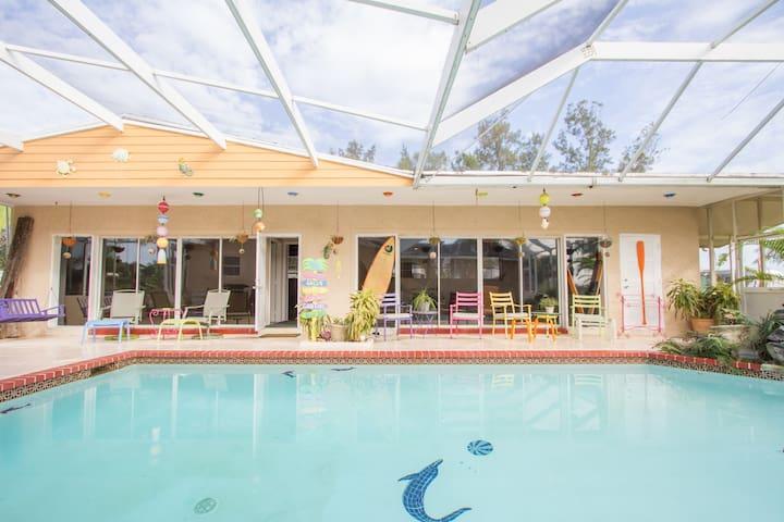 Pool House Near Everglades and Keys - Homestead - Casa