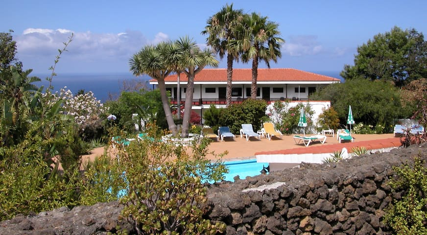 Studios with sea view and pool - Breña Alta