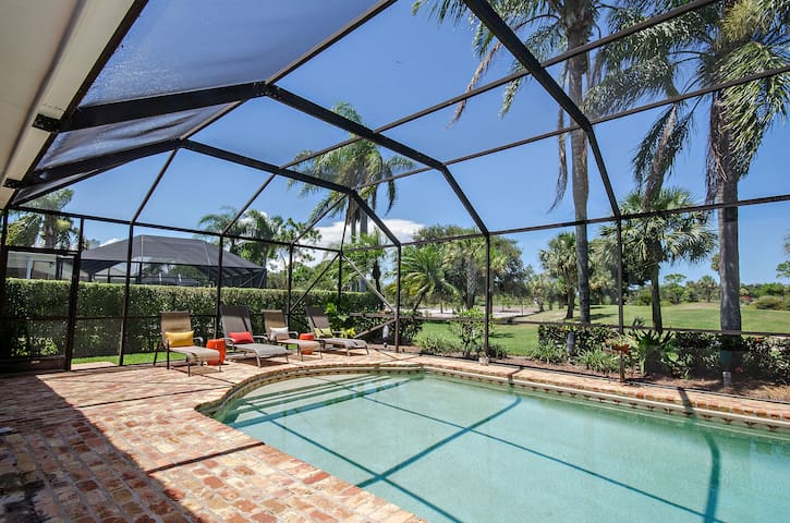 Golf course view with pool & grill! - Tequesta - Ev