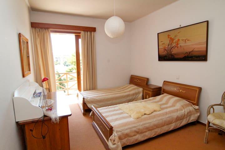 Twin bedroom in all comforts villa - Nea Penteli - Bed & Breakfast