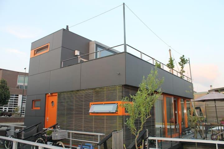 Modern Houseboat/Large Roof Terrace - Amszterdam