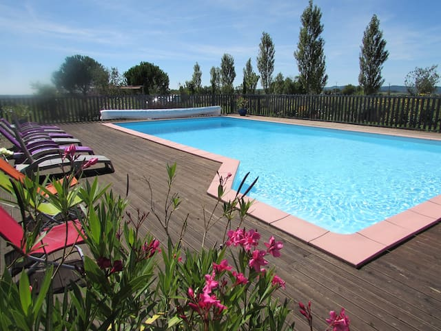 Gite of charm with swimming pool  - Lacapelle-Ségalar - Huis