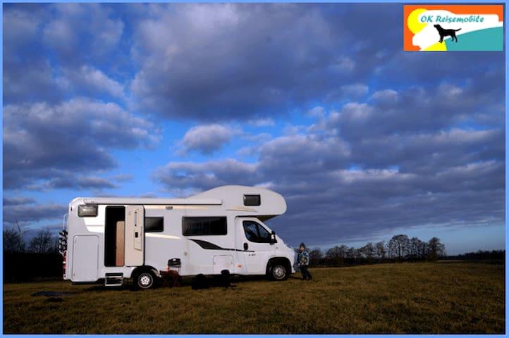 Wohnmobil b. 6 Pers., Hunde erlaubt - Ellerdorf - Camper