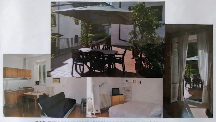 studio attrezzato, grande terrazza - Bagni di Lucca Capoluogo - Lägenhet
