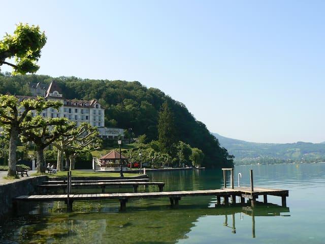 150 m lac, petit chalet individuel - Menthon-Saint-Bernard - Hytte (i sveitsisk stil)