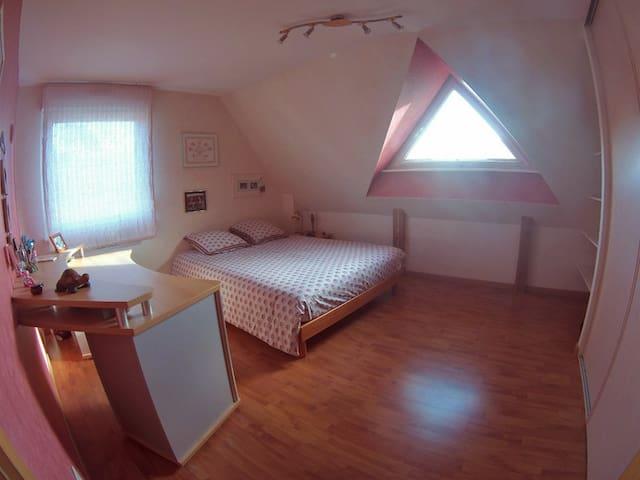 Proche Strasbourg, belle chambre - Krautergersheim - Casa