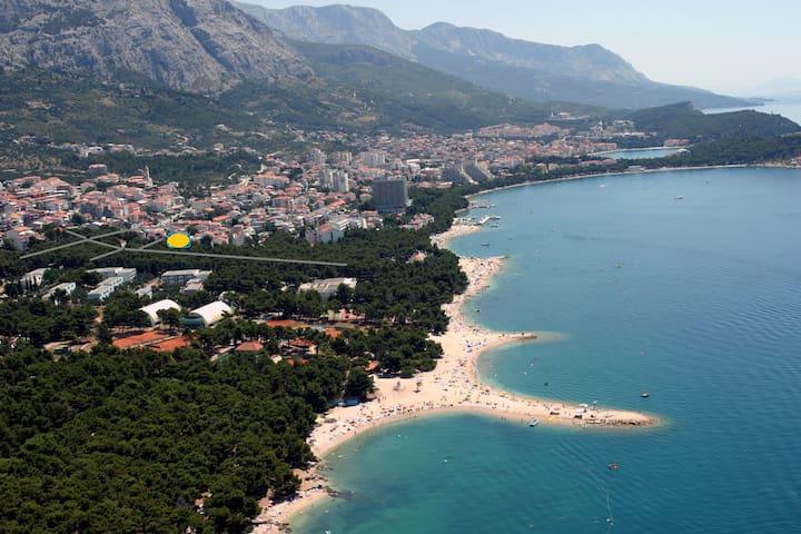 6 Sea,mountain and love plus FREE BIKE FOR ENJOY - Makarska - Daire