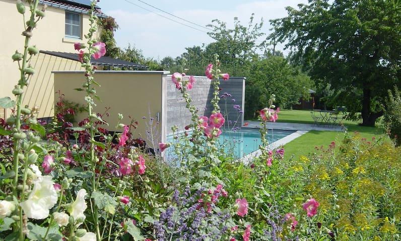 NOUS HOTES charming cottage, pool  - Chaumont-Gistoux - Casa