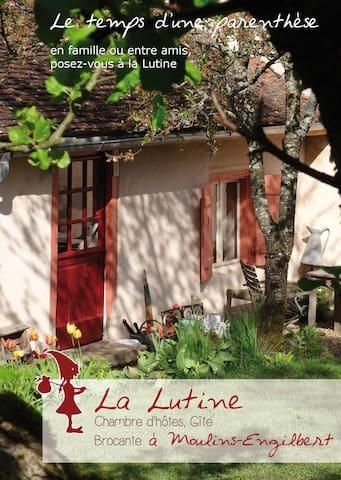 Knus huisje, B&B, Morvan, Bourgogne - Moulins-Engilbert - Ev