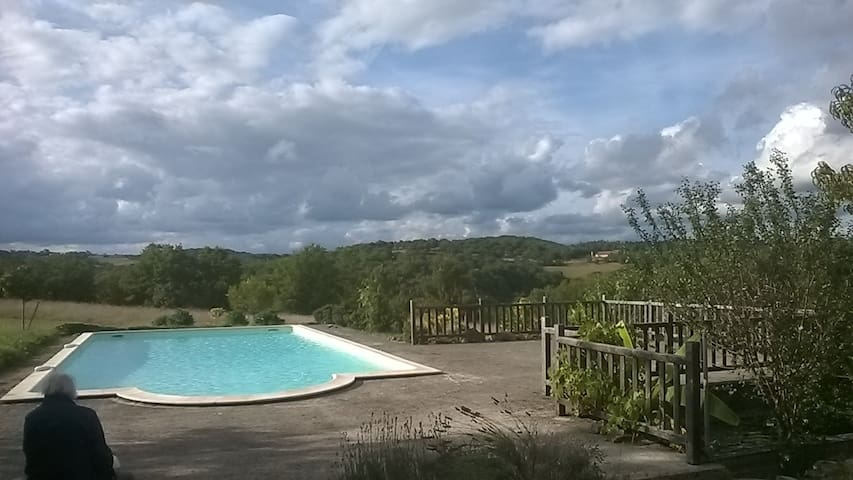 For rent charming house, Lot valley - Cajarc - Ev