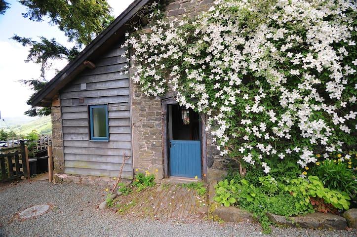 Barn - stunning hillside Mid Wales - Llawryglyn