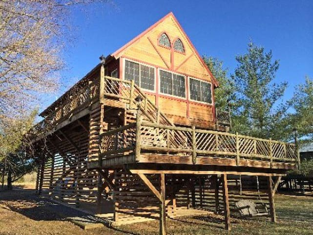 Log Cabin with private river access - Luray - Cabane