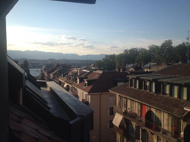 Cosy bedroom in Geneva - Eaux-Vives - Genève - Appartement