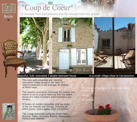 LOVELY OLD HOUSE V NEAR CARCASSONNE - Villemoustaussou - Huis