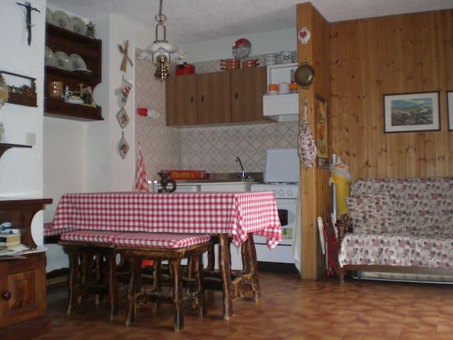 Monolocale con giardino con 4 letti - Cerreto Laghi - Appartement