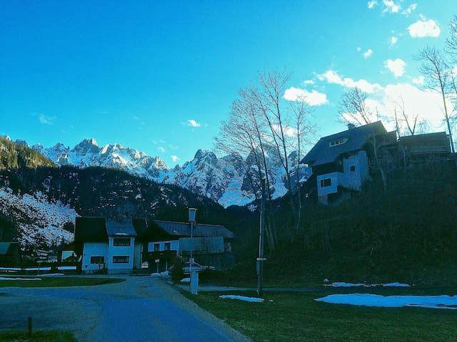 House with amazing mountain views - Gosau - Huis