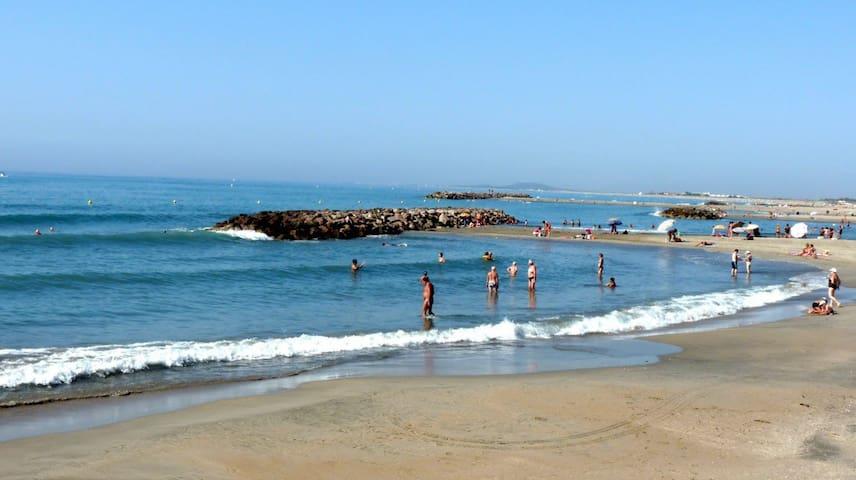 Joli T2 terrasse, plages à 200m - 塞特