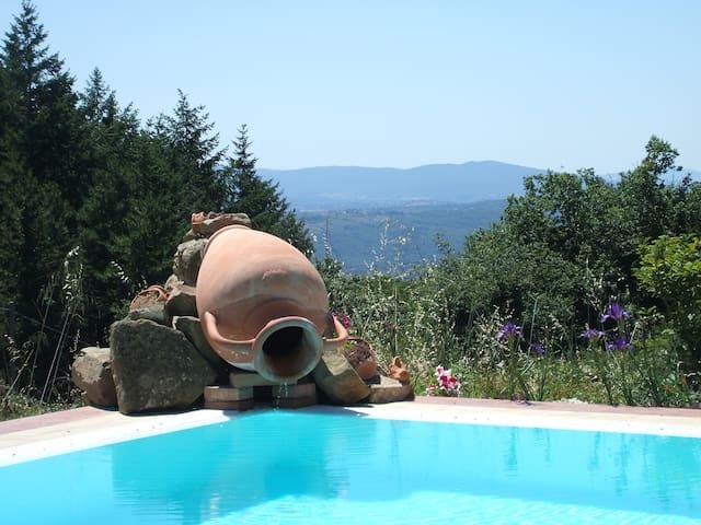 private house with pool in chianti - Castelnuovo Berardenga - Hus