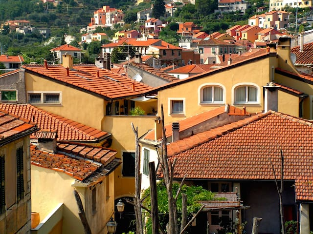 Attic apartment in an ancient house - Calice Ligure - Hus
