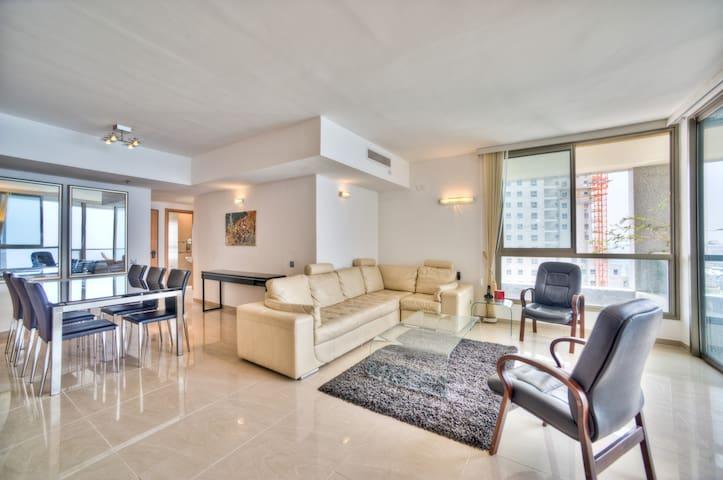 Seaview, beach, pool, gym, luxury - Нетания - Квартира