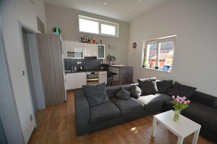 Amazing new flat in historic centre - Mladá Boleslav - Leilighet