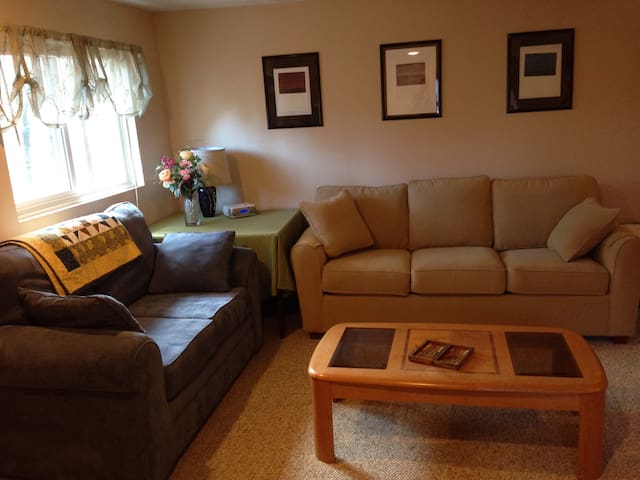 Private Apt and Driveway - Natick - Daire