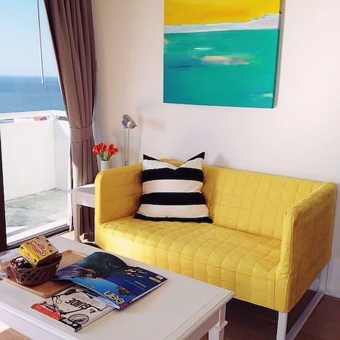Sea view studio 1401 Bed & Beach - Tambon Saen Suk, Ampur Muang Chonburi - Appartement