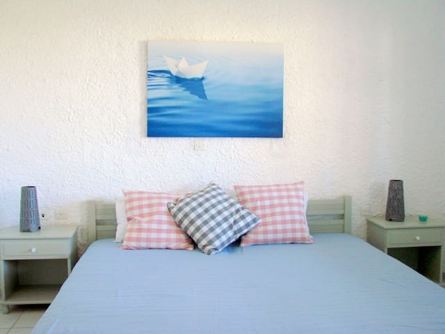 2bed studio 150 m from the beach. - Γαλησσάς - Appartement