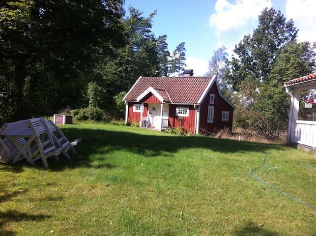 Mysigt hus mitt i naturen - Älmhult - Huis